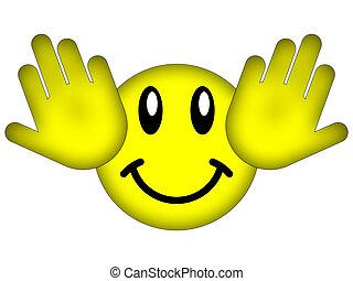 Hear no evil - Symbol of human hands closing your ears