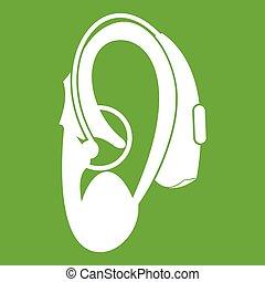 Hearing aid icon green