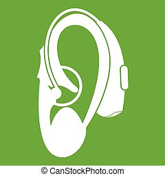 Hearing aid icon green