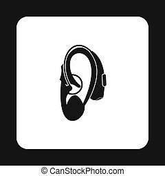 Hearing aid icon, simple style