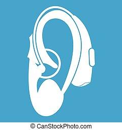 Hearing aid icon white