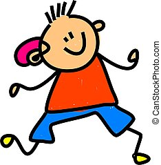 hearing aid kid - little boy wearing an hearing aid -...