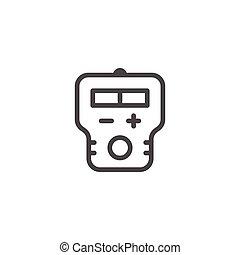 Hearing aid line icon