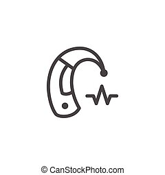Hearing aid line icon