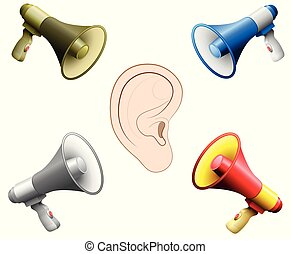 Hearing Damage Ear Noise Din Megaphones - Hearing damage...