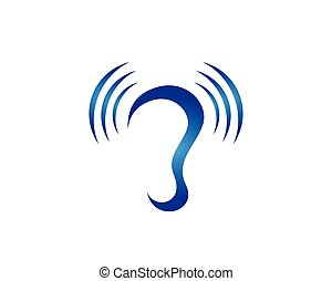 Hearing Logo Template vector icon design - Hearing Logo...