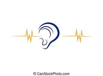 Hearing Logo Template vector icon  illustration design