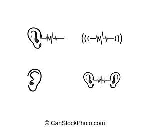 Hearing Logo Template vector