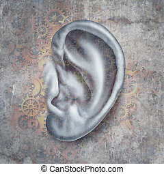 Hearing Loss and deafness medical concept for auditory ...