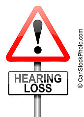 Hearing loss concept. - Illustration depicting a roadsign...