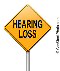 Hearing loss concept. - Illustration depicting a roadsign ...