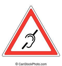Hearing loss road sign