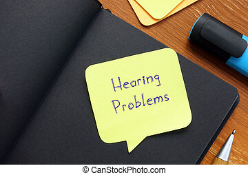 Hearing Problems phrase on the page.