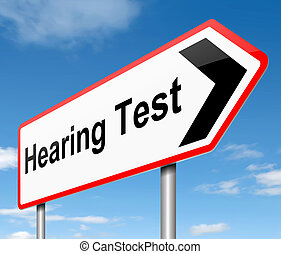 Hearing test concept.