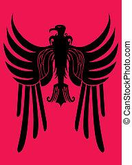 hearldry tribal eagle vector art