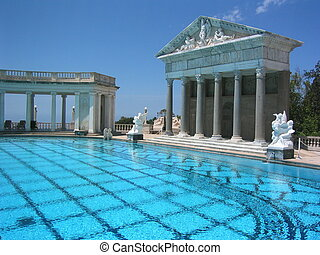 Hearst Pool - the neptune pool at hearst castle california...