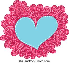 heart., שרבט, ולנטיינים, דוגמה, וקטור, יום