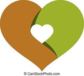 heart., ロマンチック, theme., イラスト, 創造的, ベクトル, naturopathy, シンボル,...
