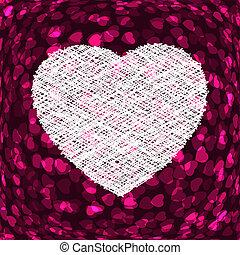 heart., 紫色, フレーム, eps, 形, 8