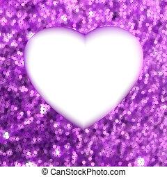 heart., 紫色, フレーム, eps, 形, s, 8