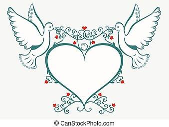 heart., 鸽