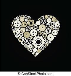 Heart a gear wheel