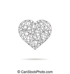 Heart abstract icon - linear design.