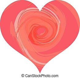 Heart - Abstract Swirl
