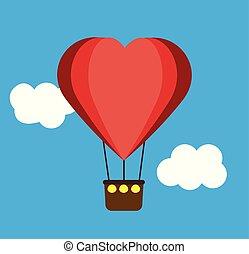 heart air balloon