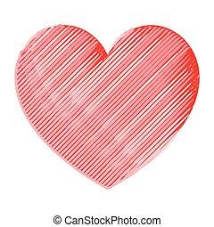 Heart akvarel.