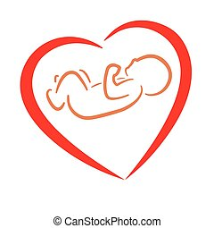 heart and baby symbol