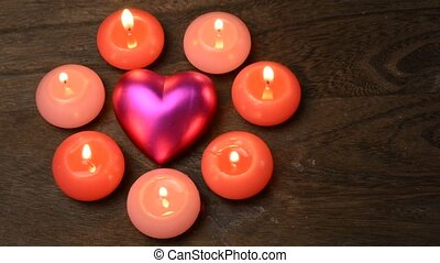 Heart and candles