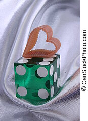 heart and dice