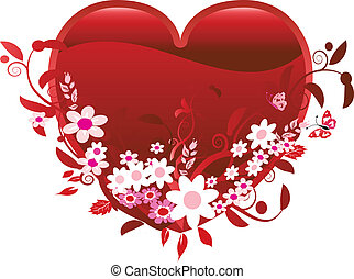Heart and Flowers of Love