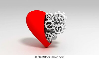 Heart and Gear Wheels Loop