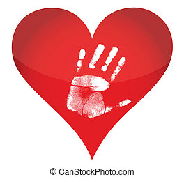 heart and handprint illustration