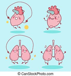 heart and lung do exercise
