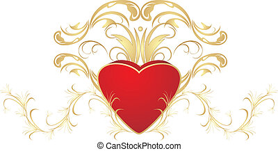 Heart and ornament