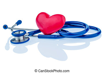 heart and stethoscope