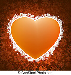 Heart applique background. EPS 8