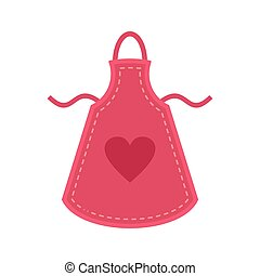 Heart apron icon. Flat illustration of heart apron icon for web isolated on white