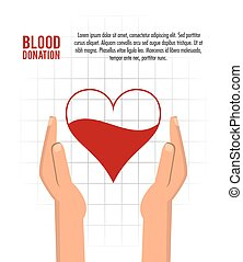 heart arm blood donation icon. Vector graphic