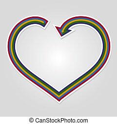 Heart arrow background