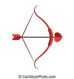 Heart arrow with bow