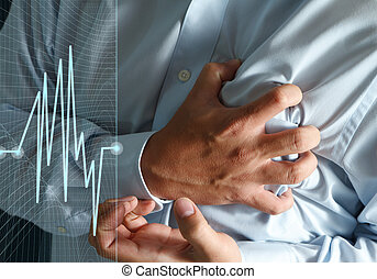 Heart Attack business man