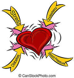 Heart Attack Causes - An image of a heart attack.
