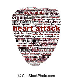 Heart attack medical symbol concept