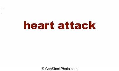 Heart attack medical symbol - Heart attack medical message...