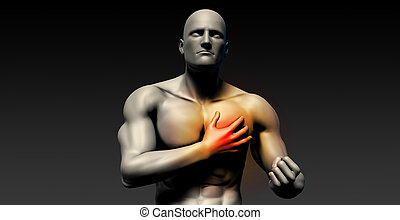 Heart Attack with Man Clutching His Chest