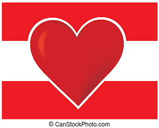 Heart Austria Flag
